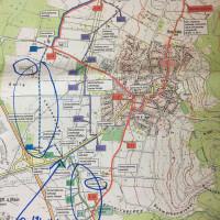 Karte mit Markierung des asphaltierten Teilstückes